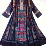 Håndbroderet helsilke kjole. Fra det Indiske Modehus Monapali. Selv hjembragt efter besøg hos Monapali i New Delhi