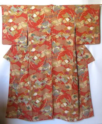 Japansk Komode Silke Kimono
