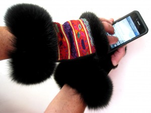 iMuffediser, i pels, ræv, mink, antikt broderi