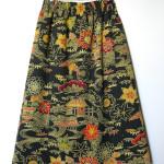 Nederdel i silke, syet af vintage Japansk kimonostof.