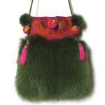 Pels, pelstaske, tasker, jane eberlein, samarkand,ræv, taske i pels, muffedisser,, bag with fur,