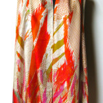 Silketørklæde med abstrakt print, samarkanddk
