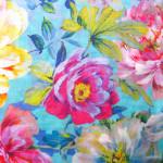 Silketørklæde med blomster print, samarkanddk
