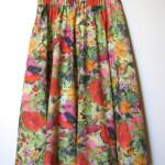 nederdel bomuld med blomster mønster.