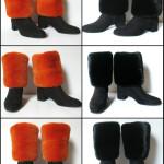 Benvarmere i Mink til støvler. Samarkand har et stort udvalg af pels benvarmere / muffedisser til støvler.