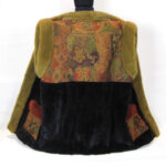 Pelsvest i mink med silkefoer, med Japansk kimono silke.
