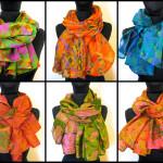 Sommer tørklæde i lette kvaliteter, silke, bomuld, uld mm. Samarkand har et stort udvalg af tørklæder.